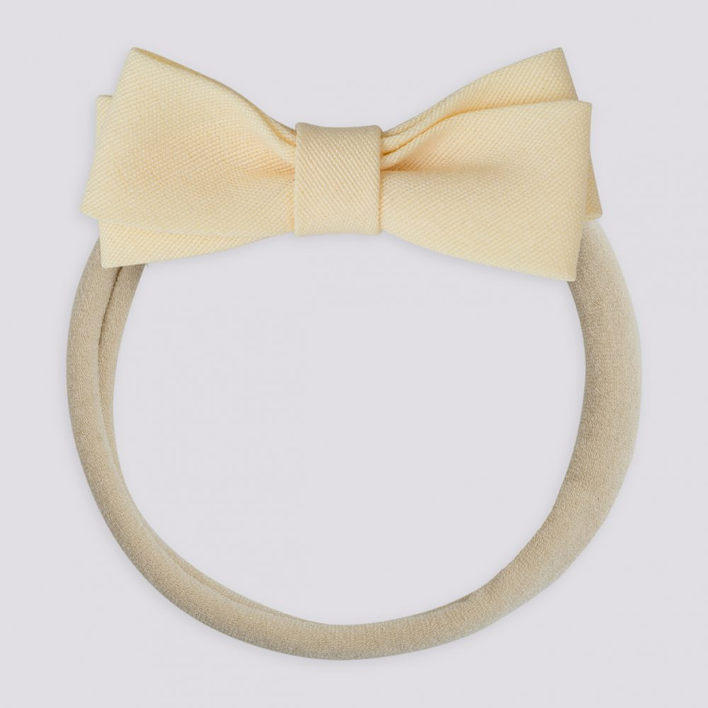 Fabric Petit Bow Hairband-Peach
